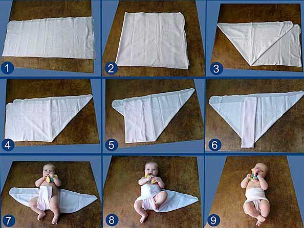 Как сделать малышу тканевой подгузник