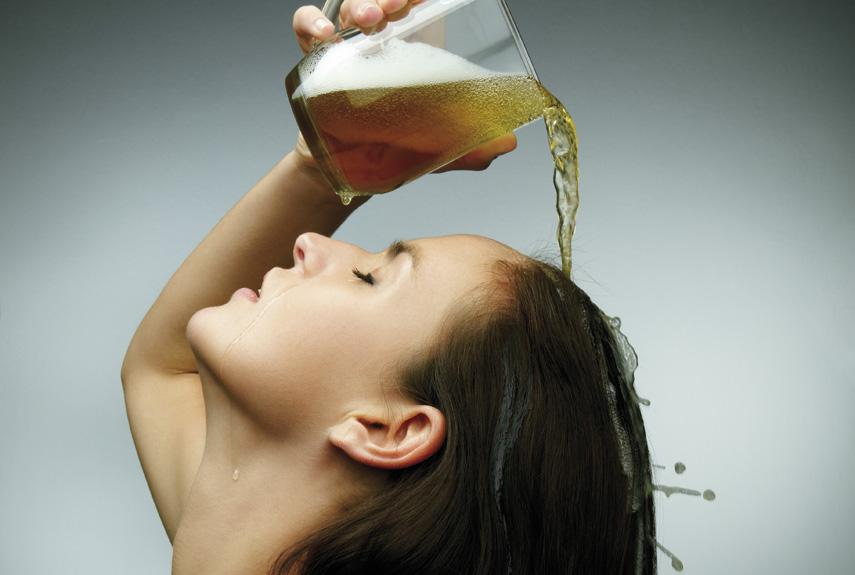 Светлое пиво – средство для блестящих волос в домашних условиях