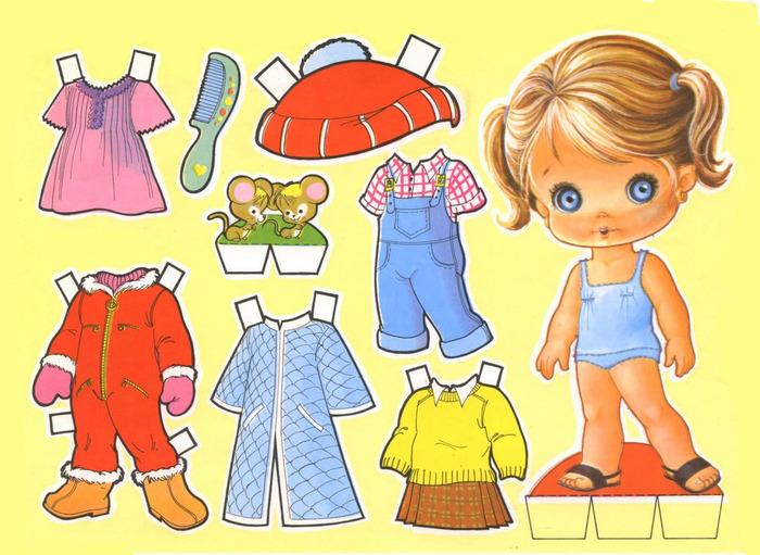 Бумажная кукла с одеждой