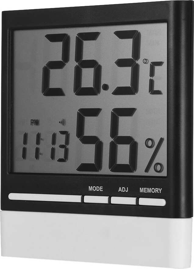 Часы со встроенным термометром и гигрометром
