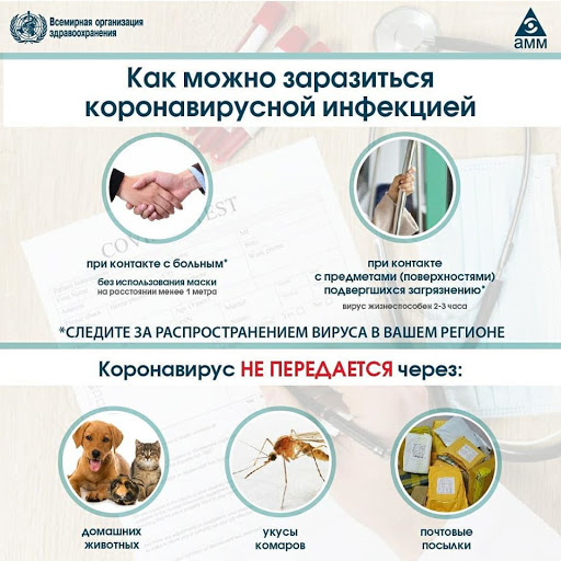 Пути заражения коронавирусом