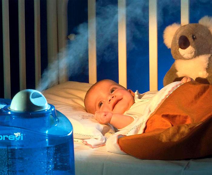 Зачем ребенку увлажнитель воздуха
