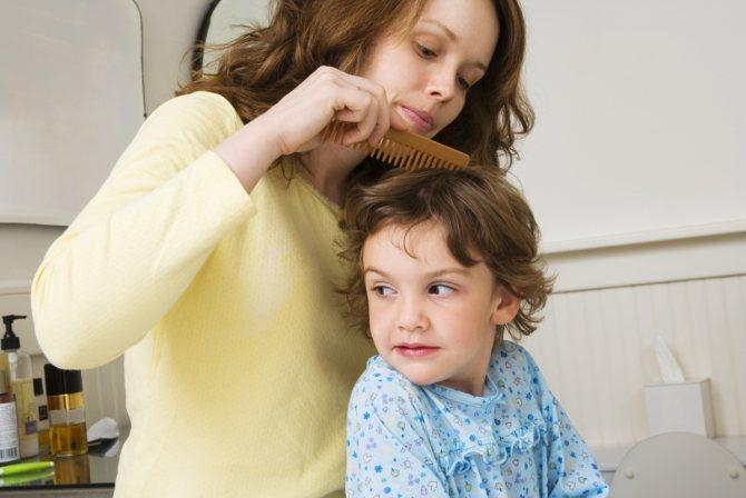 Нужно регулярно осматривать голову ребенка