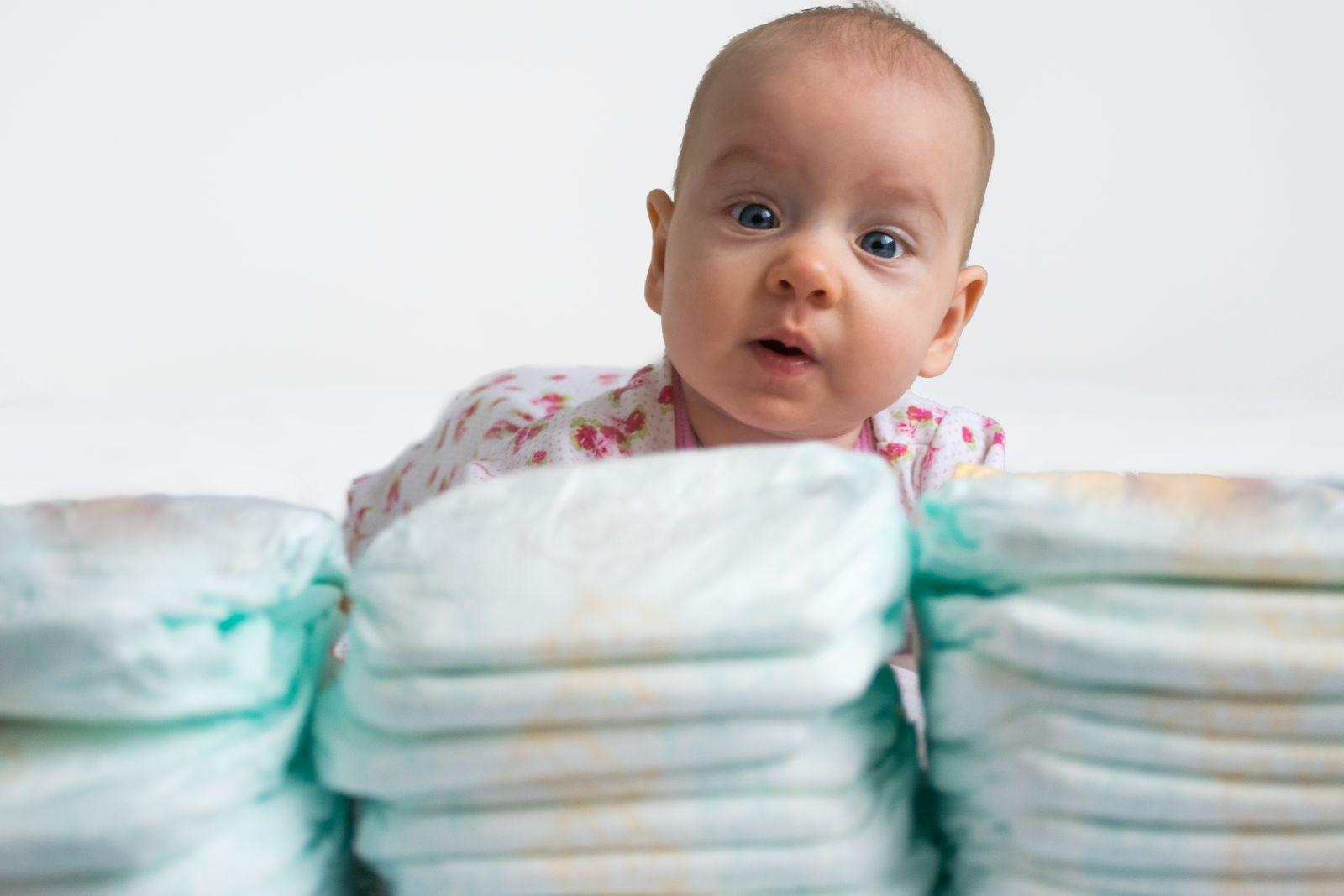 Одноразовые подгузники для малыша