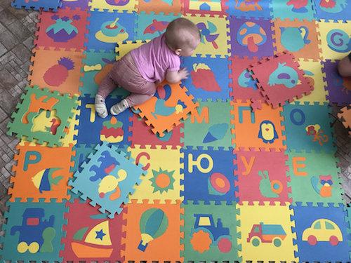 Коврик-паззл для ребенка
