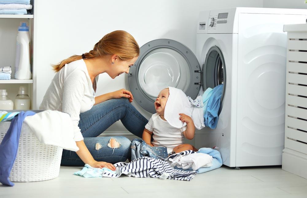 Стирка детских вещей в стиральной машинке