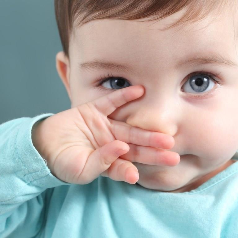 У малыша заложен носик