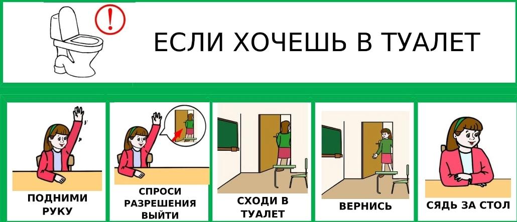 Важно объяснить ребенку, что не нужно стесняться и при необходимости посещать туалет