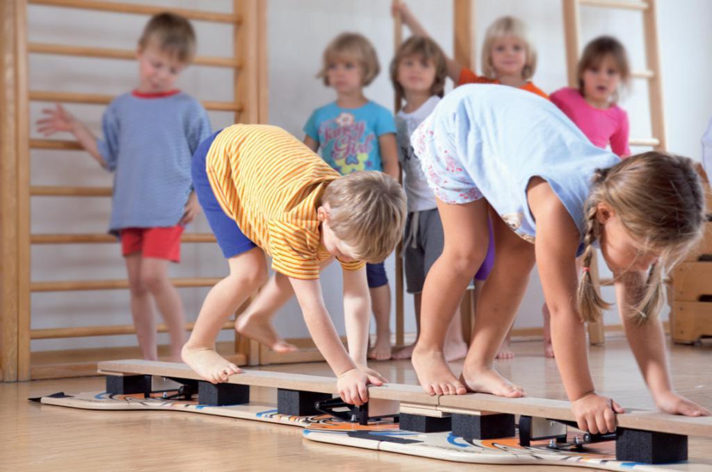 Занятия по физкультуре у детей